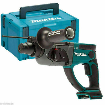 Makita DHR202 18V SDS Plus LXT Rotary Hammer Drill With Case & 4pc Chisel Set • 161.99£