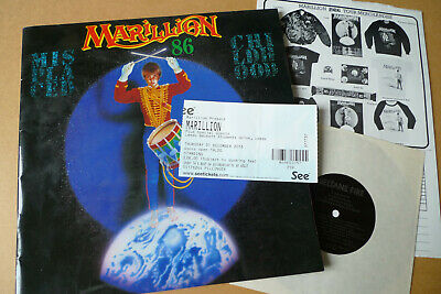 MARILLION Misplaced Childhood 1986 Tour Programme 12  X 12  With FLEXI & Inserts • 24.99£