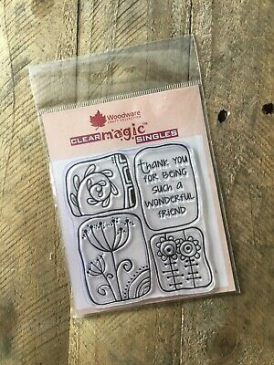 Woodware Wonderful Friend Clear Magic Singles Stamp FRS187.  New And Unused • 1.80£