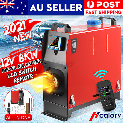 AU196.99 • Buy HCalory 8KW 12V Diesel Air Heater All In 1 LCD Thermostat Remote Truck Boat Bus
