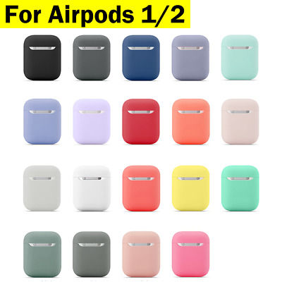 AU7.95 • Buy For Airpods 1/2 Case Shockproof Silicone Earphones Cover Slim Thin Fit