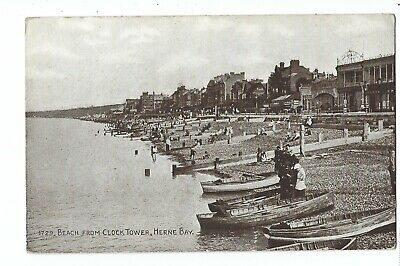Kent:  Herne Bay, Beach From The Clock Tower • 3.99£