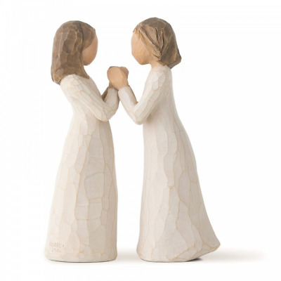 £27.63 • Buy Willow Tree Sisters By Heart 26023 2 Girls Hold Hands Figurine Brand New & Boxed