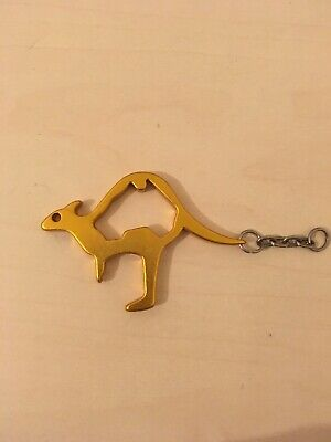 Kangaroo Metal Bottle Opener Brand New Gold Yellow Colour • 2.10£