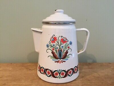 $19.99 • Buy Vintage Berggren Swedish Enamel Coffee Pot Tea Pot