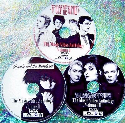 SIOUXSIE And The BANSHEES And Creatures Music Video Collection 3 DVD Set 59 Vids • 15.73£