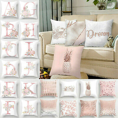 Rose Pink Floral Print Throw Pillow Case Cushion Cover Home Decor Pillowcase • 3.79£