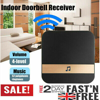 Smart Wireless WiFi Doorbell Door Chime Ring Ding-Dong Video Door Bell Receiver • 8.99£