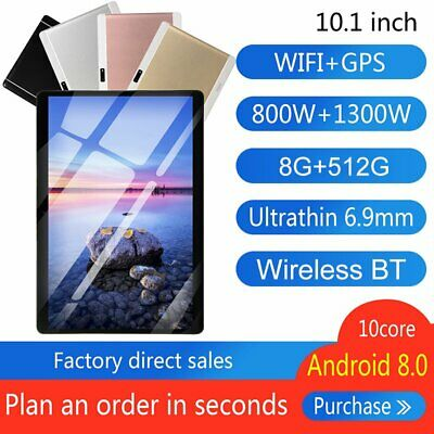 AU121.99 • Buy 1080P 10.1.Bluetooth Tablet Android 9.0 8+512GB GPS Phablet PC Dual Camera WiFi