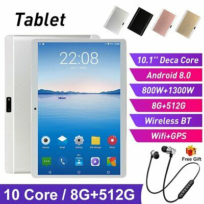 AU127.89 • Buy 10.1 Inch Wifi Tablet Android 9.0 8+512G Game Phablet GPS Deca Core Dual Camera