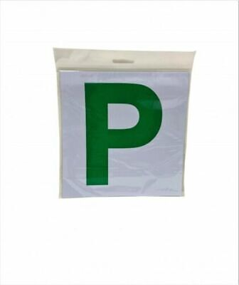 2 Pack Premium Fully Magnetic Passed Pass New Driver Green P Plate Plates Car • 2.25£