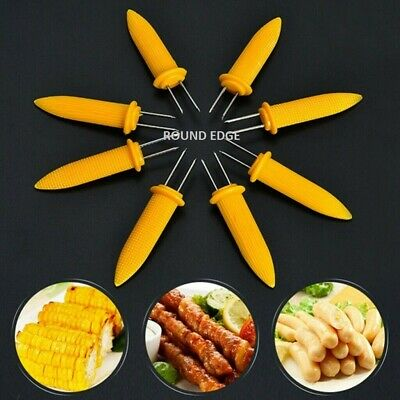 £3.69 • Buy 24 Corn On The Cob Holders Skewers Kitchen Forks BBQ Food Hygiene Yellow Sticks