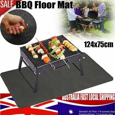 AU20.29 • Buy Fire Retardant BBQ Grill Floor Mat Rug Ourdoor Barbecue Pad Protect Floor Deck