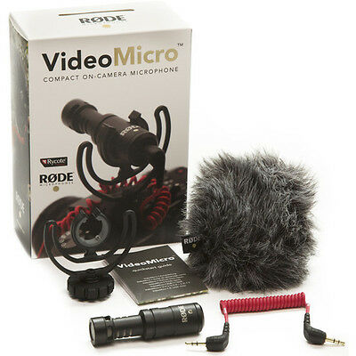 Rode VideoMicro Rycote Lyre Shock Mount On Camera Recording Microphone • 48.88£