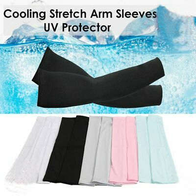 1Pair Cooling Arm Sleeves Cover UV Sun Protection Basketball Golf Sport Athletic • 3.31£