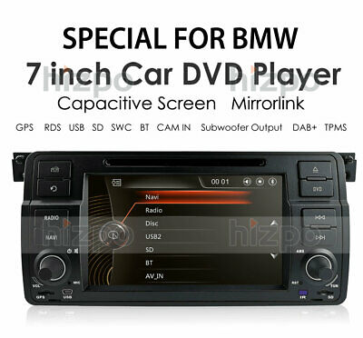 $189 • Buy For BMW E46 M3 7  Car Stereo GPS DVD Player Touch Screen BT SWC RDS Radio WinCE