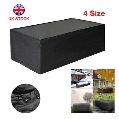 Heavy Duty Garden Patio Furniture Table Cover For Rattan Table Cube Set Outdoor • 23.09£