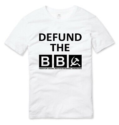 Defund The BBC Protest T Shirt White • 10.99£