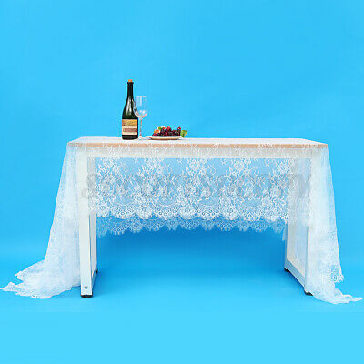 $15.50 • Buy 59x118  Rectangle White Lace Tablecloth Home Wedding Party Table Cloth   *
