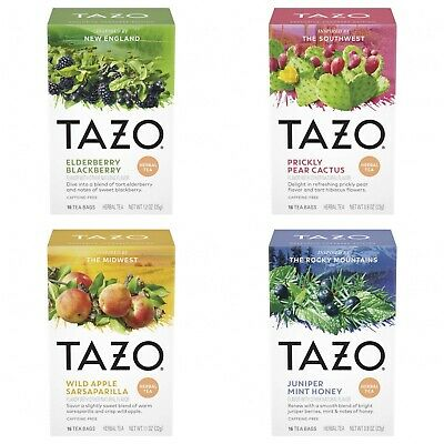 Tazo Foragers Variety 4-Pack Regionally Inspired (64 Tea Bags) • 19.67£