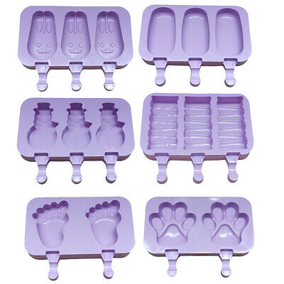 Silicone Frozen Ice Cream Mold Juice Popsicle Maker Ice Lolly Mould Sticks Tool • 4.85£