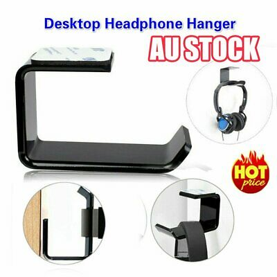 AU8.95 • Buy Headphone Stand Hanger Holder Dual Headset Tape Under Desk Hook Clever Mount HA