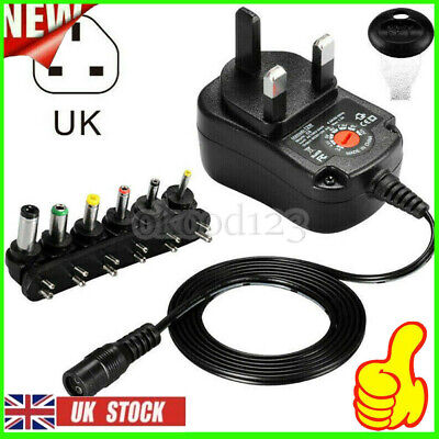 AU9.88 • Buy Universal 3V 4.5V 5V 6V 7.5V 9V 12V Mains AC/DC Power Supply Adapter Charger