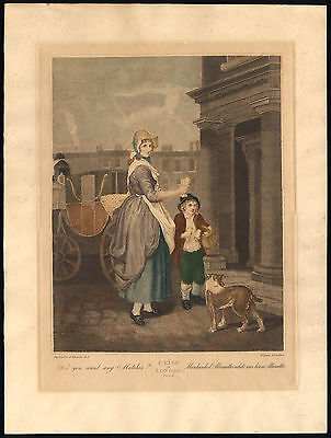 £199.50 • Buy Antique Print-CRIES OF LONDON-SELLING MATCHES-HAWKER-PL. 4-Wheatley-Cordon-1820