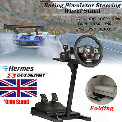 Racing Simulator Steering Wheel Stand Driving Gaming For G29 G920 T300 XBOX PS4 • 48.89£