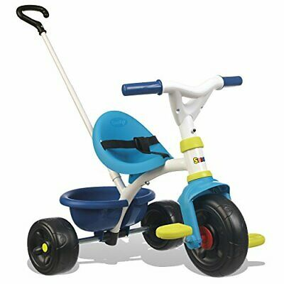 Smoby Blue 2-in-1 Push Along Trike With Parent Handle And Kids Forst Tricycle - • 55.99£