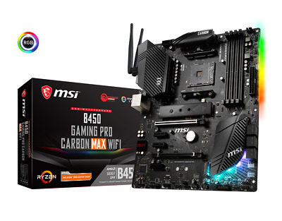 AU269 • Buy MSI B450 GAMING PRO CARBON MAX WIFI AMD Motherboard ATX AM4 DDR4 M.2 VGA HDMI