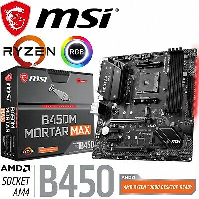 AU178 • Buy MSI B450M MORTAR MAX AMD Gaming Motherboard MicroATX AM4 RGB DDR4 M.2 HDMI