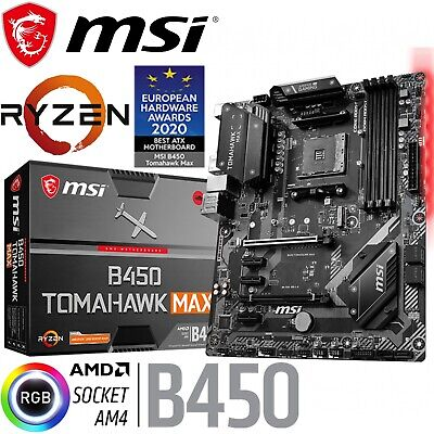 AU209 • Buy MSI B450 Tomahawk MAX Ryzen AMD Gaming ATX AM4 Motherboard DDR4 Turbo M.2 Type C