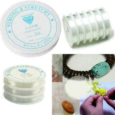 £2.96 • Buy Elastic Stretchy Beading Thread Cord Bracelet String For Jewelry Making Tools