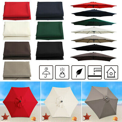 Outdoor Umbrella Surface Replacement Rainproof Fabric Garden Parasol CanopyCover • 18.25£
