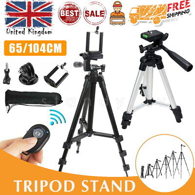 Universal Camera Camcorder Adjustable Tripod Stand Monopod Phone IPhone Remote • 9.99£