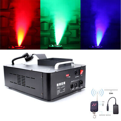 1500W LED RGB DMX Smoke Machine Stage Haze Effect Fog Machine DJ Party W/Remote • 95.89£