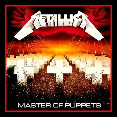 £2.12 • Buy 4  Metallica Master Of Puppets Vinyl Sticker Heavy Metal Decal For Car, Guitar
