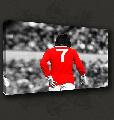 Iconic Football Legend George Best No 7 Box Canvas Print Wall Art Picture  • 29.99£