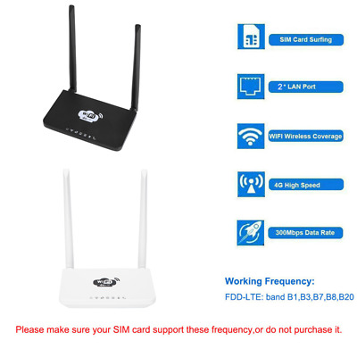 AU60.99 • Buy 4G Wireless Wifi Router LTE 300Mbps Mobile MiFi Hotspot With SIM Card Slot O0J4