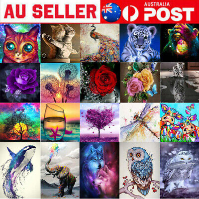 AU12.99 • Buy 5D DIY Diamond Painting Drill Embroidery Kits Art Cross Stitch Decors Gifts