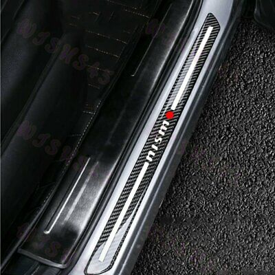 $18.83 • Buy JDM Nismo Carbon Fiber Car Door Welcome Plate Sill Scuff Cover Decal Sticker X2