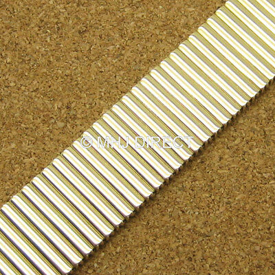 £9.95 • Buy Mens Gold Plated Expanding Stretchy Watch Strap Expandable Bracelet 20 22 24mm