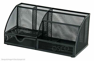 £23.39 • Buy Osco Mesh Large Desk Organiser Scratch-resistant With Non-marking Rubber Pads Bl