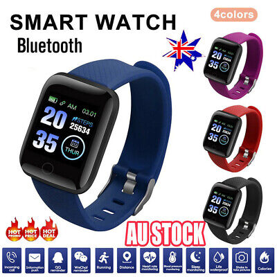 AU18.44 • Buy Smart Watch Band Sport Activity Fitness Tracker For Kids Fit Bit Android IOS AU