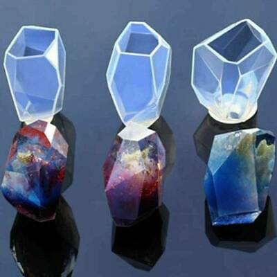 Gem Stone Crystal Mold Silicone Candle Molds 3 Shapes Large Size Resin Best • 4.58£