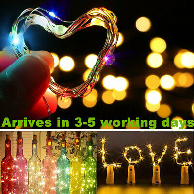Wine Bottle String Lights Starry Fairy Home Twinkle Decor For Party, Christmas • 2.25£
