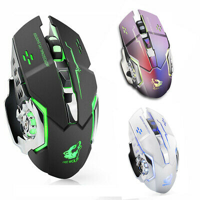AU19.89 • Buy Rechargeable Wireless Gaming Mouse LED Backlit USB Optical Ergonomic Game Mice