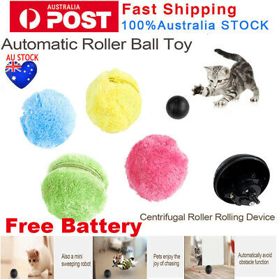 AU16.35 • Buy Electric Magic Automatic Pet Dog Cat Active Interactive Roller Ball Toys Rolling