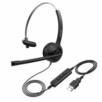 Mpow Noise Cancelling 3.5mm/USB Headset Headphones Mic For Skype Computer Call • 20.29£